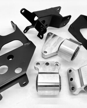Hasport's dual height mount kit for L15 turbo engine into the 94-01 Integra and 92-94 Civic chassis.